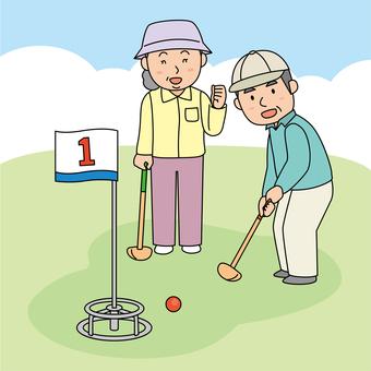 Ground golf background