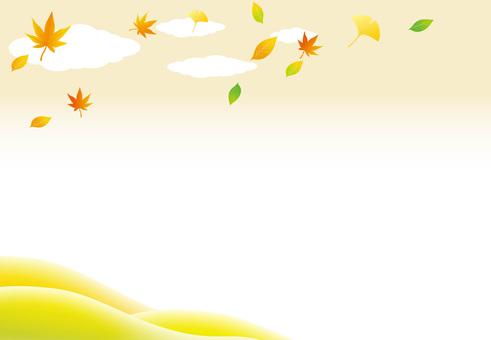 Ginkgo autumn leaves mountain