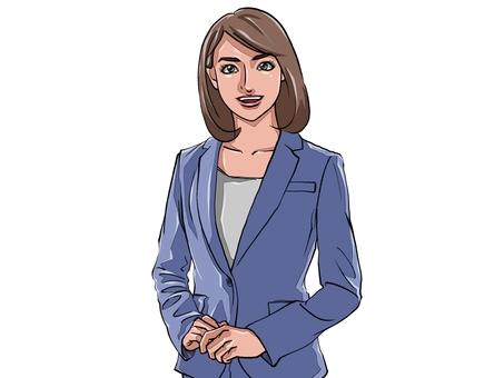 A beautiful office lady