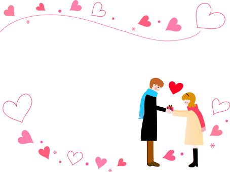 情人節的框架