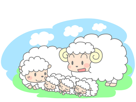 Parent and child of sheep