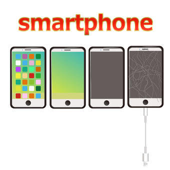 Smartphone smart glass broken illustration 2