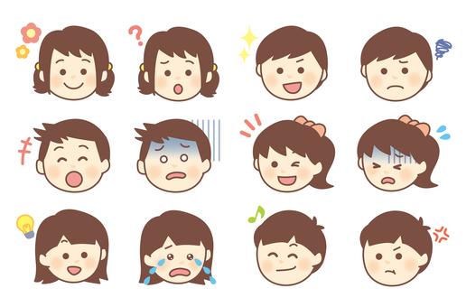 Children's facial expression Various sets