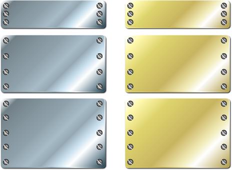 Steel plate frame (diagonal / screw increment) set 2