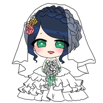 Girl character wedding