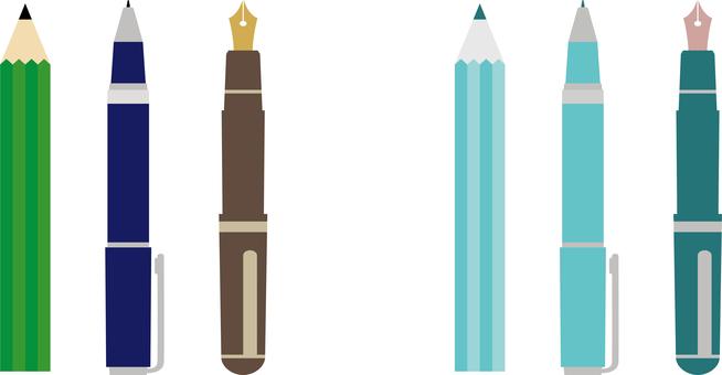 Pencil, pen, fountain pen