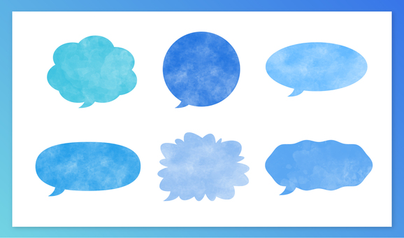 Bubble set light blue
