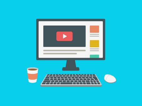 Desktop computer video screen