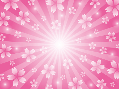 Sakura radial background