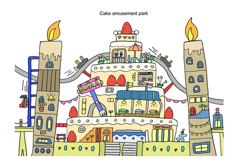 Cake amusement park