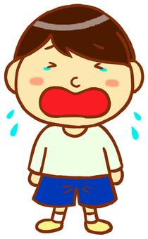 Boys (crying)