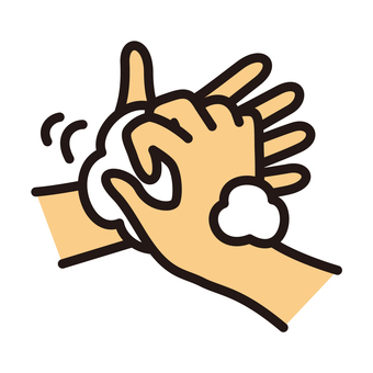 Hand wash between nails