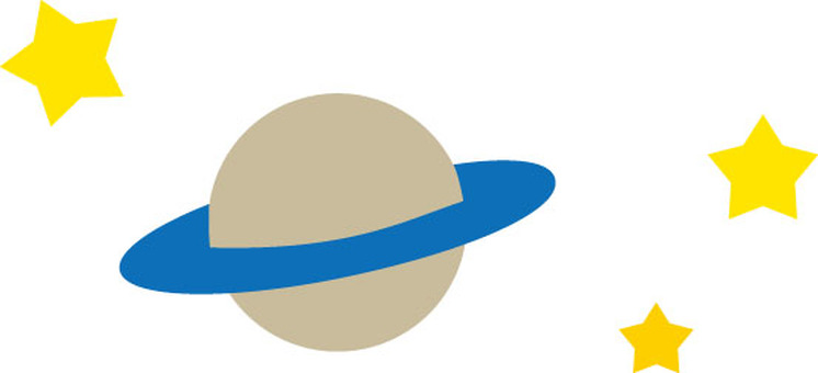 Saturn and stars