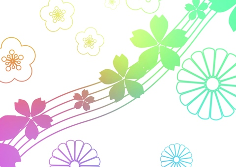 Japanese style with seven colors