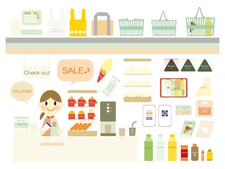 Convenience store set