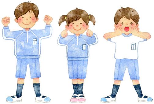 Gym suit clothing children