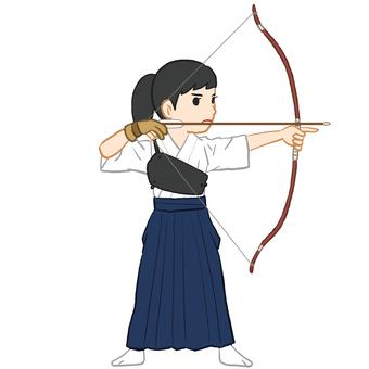 Kyudo player_Women