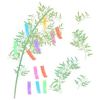 青竹(短冊付き) ④ 水彩