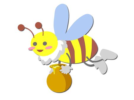 꿀을 나르는 꿀벌