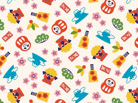 New Year pattern pattern