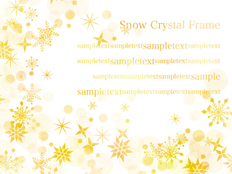 Snow crystal frame ver 15