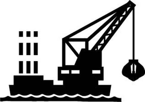 Bucket ship silhouette