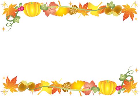 Autumn Leaves Frame (Pumpkin Line)