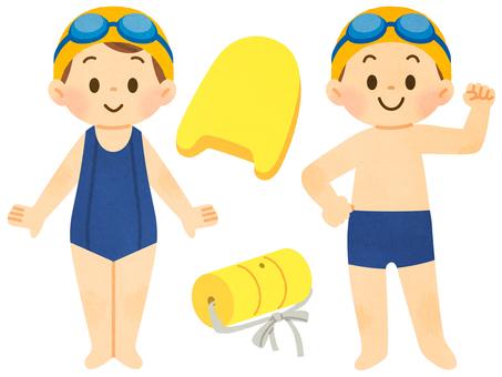 스쿨 수영복 초등학생