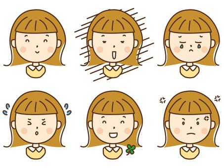 女性(色々な表情セット)