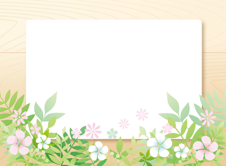 Flower Background Frame Wood Wood Grain