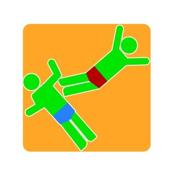 Wrestling pictogram (2)