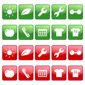 Calendar, phone, T-shirt and other icons