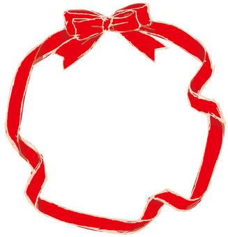 Red ribbon frame 2