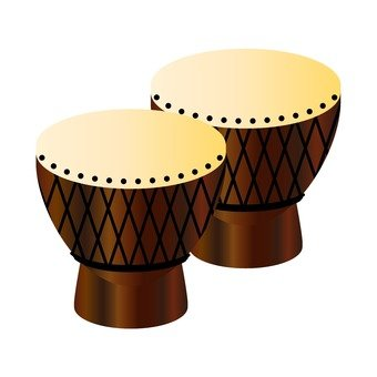 African folk instrument 2 djembe