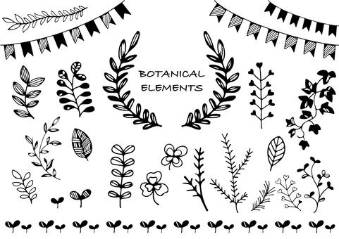 Handwritten plant material