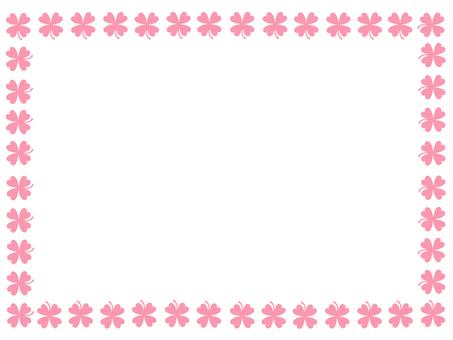 Four leaf clover Pink