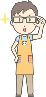 Childminder Male - Eyeglass Kirari 1 - whole body