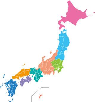 Japan map ~ Regional division ~ Standard simple