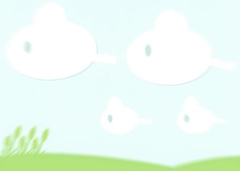 大草原和天空和云彩