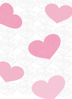 Background with heart and rose design Wallpaper