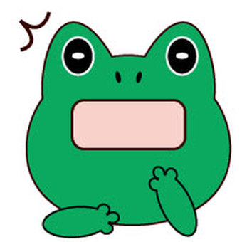 Frog - surprised face