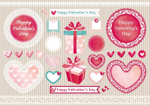 Valentine image set pink