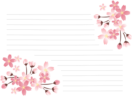 Stationery of Sakura