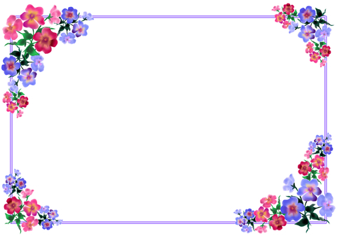 Pansy and viola frame