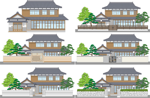There are 5 edges of Japanese houses with mochi