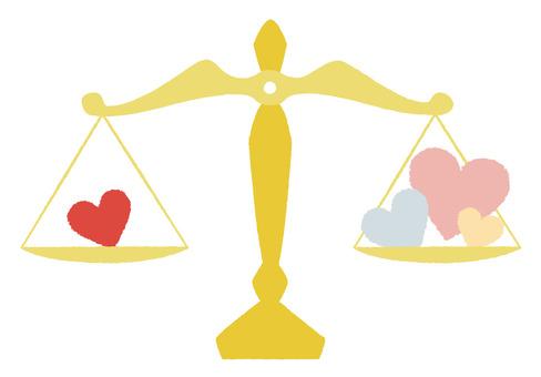 Balance to measure heart
