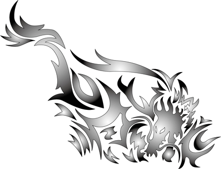 Dragon's Painting Wind Tribal