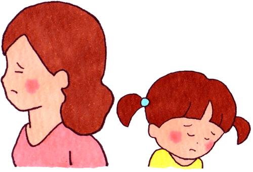 冷漠的母親忽略(母親和女兒)