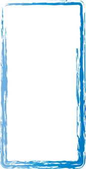 Japanese style windows of blue