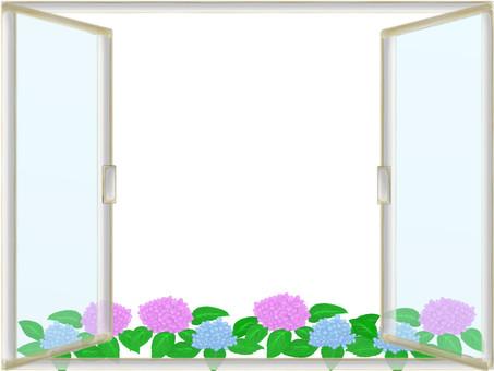Window frame of the rainy season